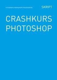 CRASHKURS PHOTOSHOP - fotografie workshops