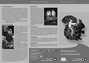 Faltblatt Waldspielgelände - Nationalpark Bayerischer Wald