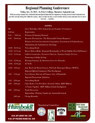 Regional Planning Conference - City of Humboldt