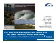 Wind, wave and storm surge hindcasts and scenarios and related ...