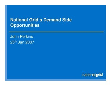 Frequency Control by Demand Management - National Grid