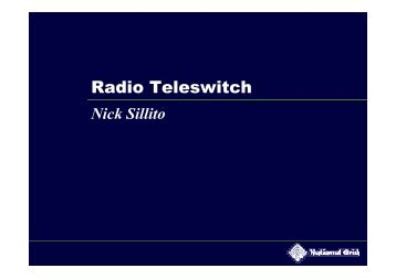 Radio Teleswitch - National Grid