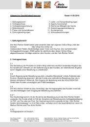 Allgemeine Geschäftsbedingungen Stand 11.06.2010 ... - Holz-Richter