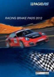 racing brake pads 2012