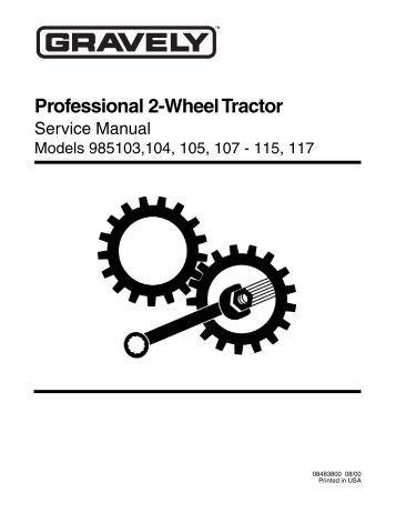 wiring diagram model 9851 professional 2 wheel tractor
