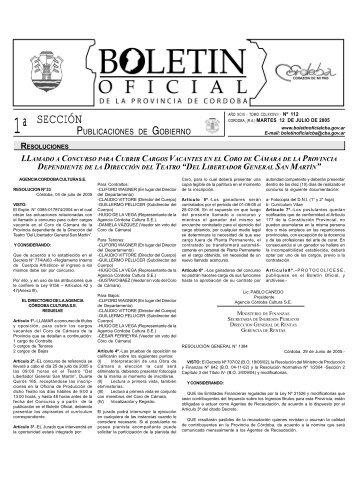 120705_seccion1 - Boletín Oficial de la Provincia de Córdoba