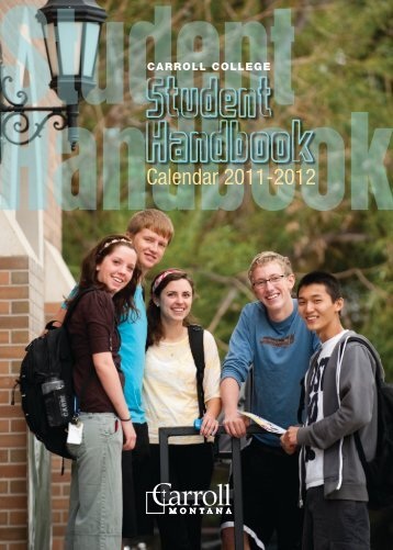 pages 115-118 of the Student Handbook - Carroll College