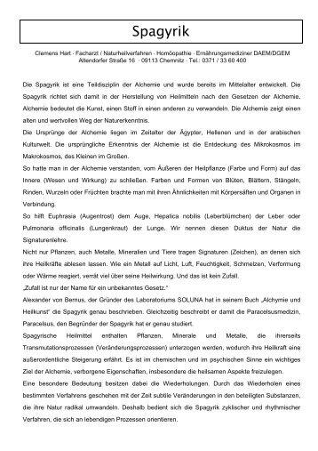 Spagyrik - Arztpraxis für Naturheilkunde Clemens Hart