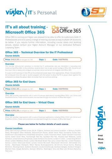 Microsoft Office 365 Training - Viglen