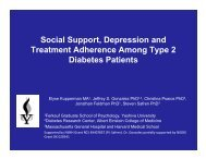 Social Support, Depression and Treatment Adherence Among Type ...