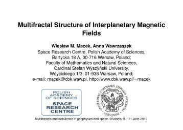 Multifractal Structure of Interplanetary Magnetic Fields