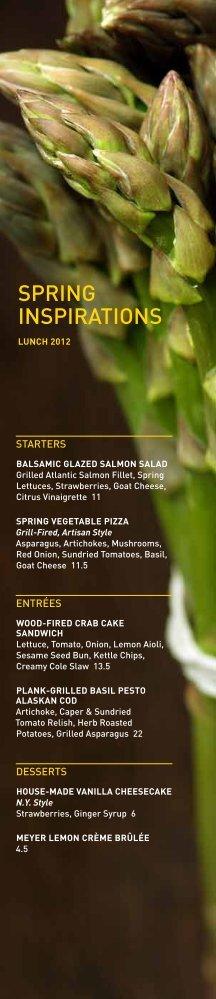 SPRiNG iNSPiRATiONS - Weber Grill Restaurant