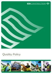 Quality Policy - Esh Construction