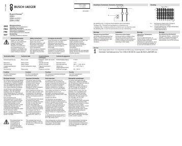 Busch-Dimmer® 2200 / 2200 UJ-212 / 2200 U-503