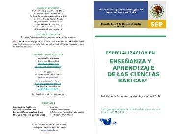enseñanza y aprendizaje de las ciencias básicas - Instituto ...