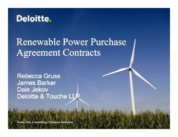 Renewable Power Purchase Agreement Contracts - Deloitte