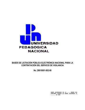 BASES DE LICITACIÓN PÚBLICA ELECTRÓNICA NACIONAL ...