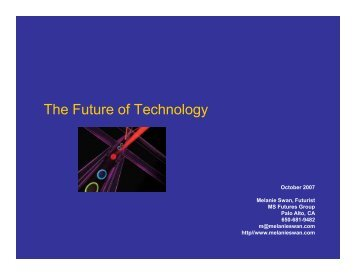 The Future of Technology - MS Futures Group