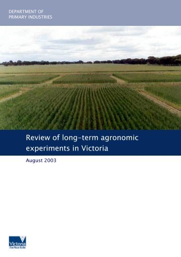 Review of Long-term Agronomic Experiments in Victoria (PDF - 370 ...
