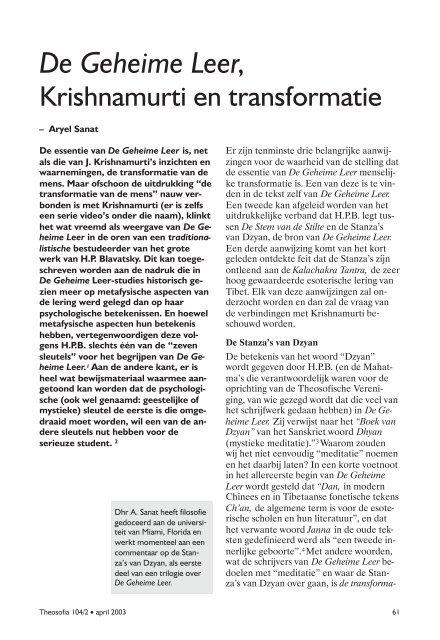 Geheime Leer pdf - Theosofische Vereniging in Nederland