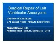 Surgical Repair of Left Surgical Repair of Left Ventricular Aneurysms