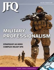 military professionalism military professionalism - National Defense ...
