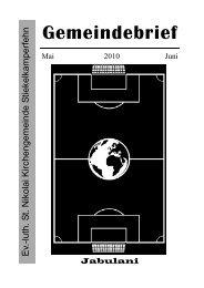Mai / Juni 2010 - Beningafehn