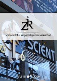 PDF (3,8 MB) - ZjR - Zeitschrift für junge Religionswissenschaft