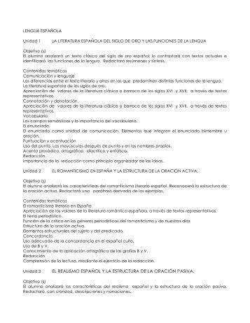 el realismo español y la estructura de la oración pasiva.
