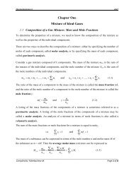 Chapter One Mixture of Ideal Gases - Yidnekachew