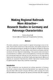 Making Regional Railroads More Attractive— Research Studies in ...