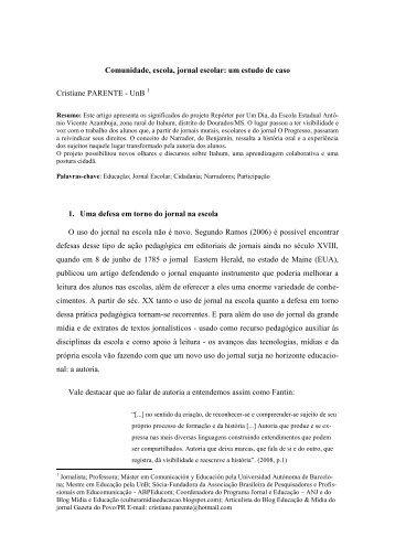 15. Comunidade, escola, jornal escolar - Universidade Estadual do ...