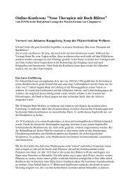 Online-Konferenz vom 29.9.96 Body & Soul - Neue Therapien