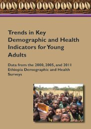 Trends in Key Demographic and Health Indicators ... - Measure DHS