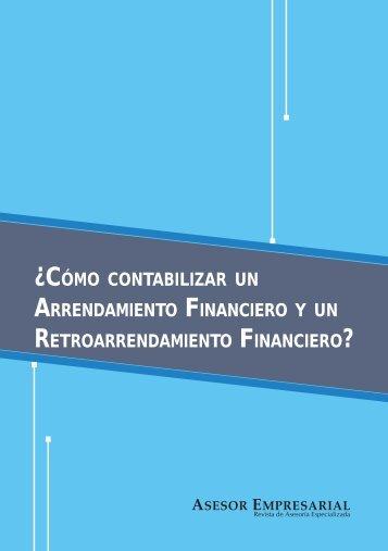 ARRENDAMIENTO FINANCIERO.indd - Revista Asesor Empresarial