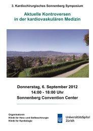 Sonnenberg Symposium 06. September 2012 - Klinik für Herz- und ...
