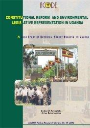 A Case Study of Butamira Forest Reserve in Uganda - World ...