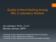 Quality of Hand Washing Among Biosafety Level-2 Laboratory ...