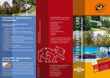 Flyer Nationalpark-Card - Neuschönau
