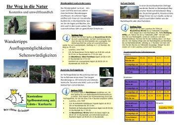 Ihr Weg in die Natur Wandertipps Sehenswürdigkeiten - Neuschönau