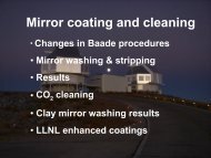 Mirror coating and cleaning - MagellanTech