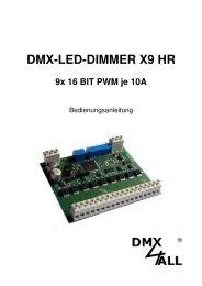 DMX-LED-DIMMER X9 HR - DMX4ALL GmbH