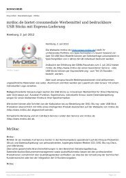 mrdisc.de bietet crossmediale Werbemittel und bedruckbare USB ...