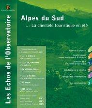 Clientèle touristique - Observatoire du Tourisme