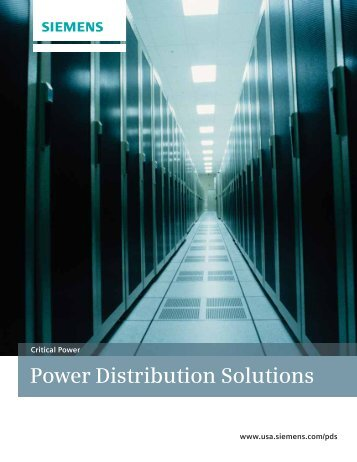 Power Distribution Solutions - Siemens