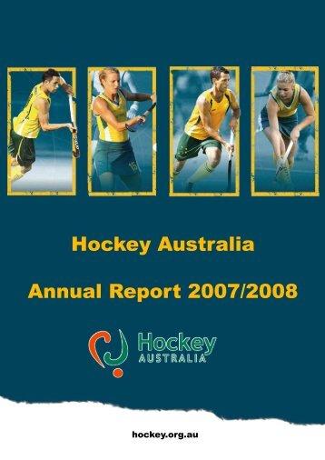 Hockey Australia Annual Report 2007/2008