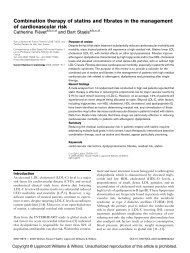 Combination therapy of statins and fibrates in the management of ...