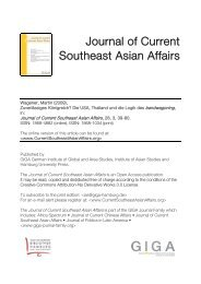 Journal of Current Southeast Asian Affairs, Nr. 3 ... - Martin Wagener