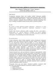 moderní metody měření výkonnosti podniku - Konference.fbm.vutbr.cz