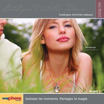 Catalogue d'articles-cadeaux - Wal-mart Photo Centre